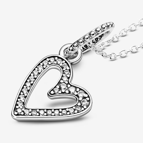 Pandora Accented Heart Necklace