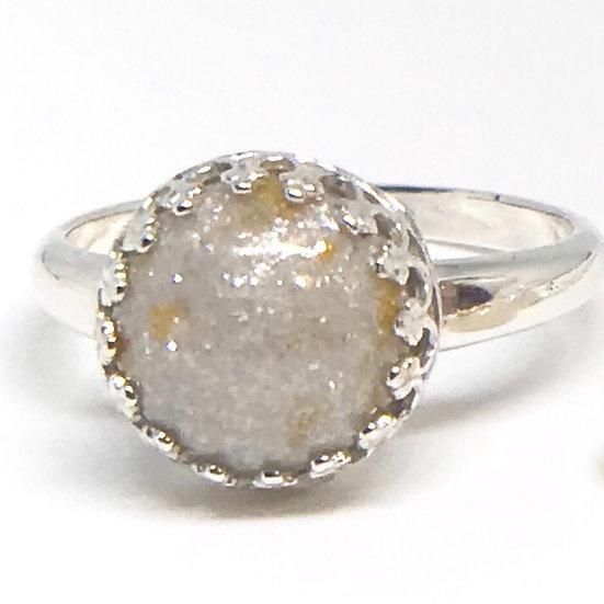 Round Princess Crown Ring