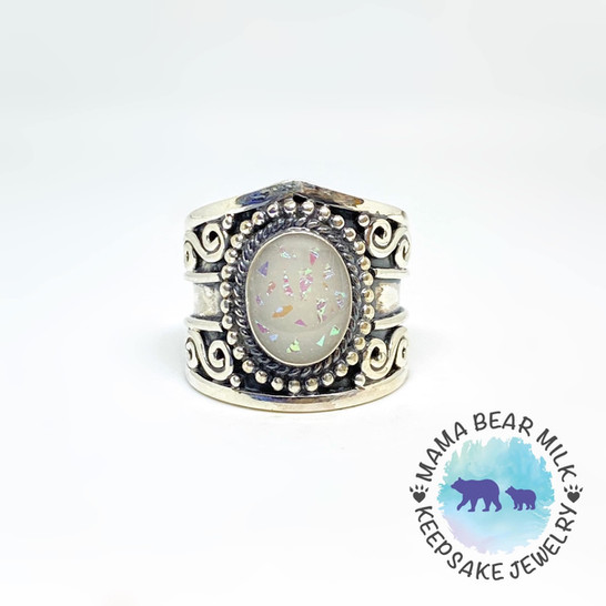 Opal Fleck hand placed