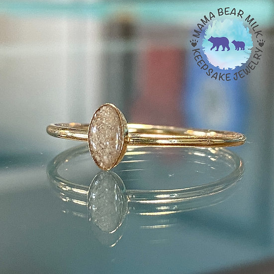 Petite Gold Filled Oval Ring
