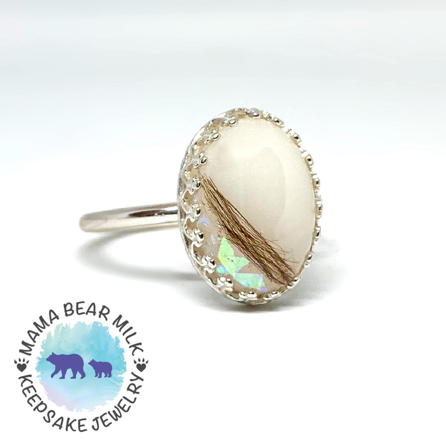 hand placed opal fleck in one spot
