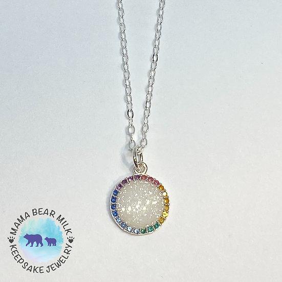 Rainbow Halo Necklace