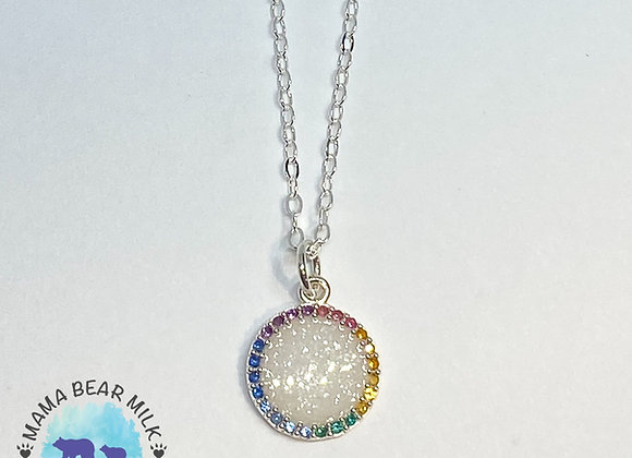 Rainbow Halo Necklace