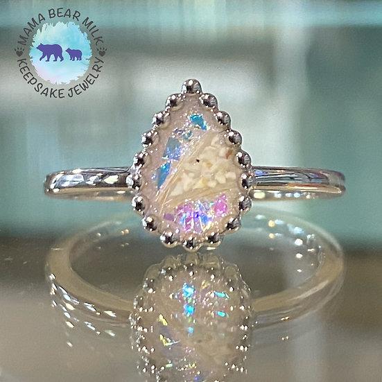 Beaded Teardrop Ring