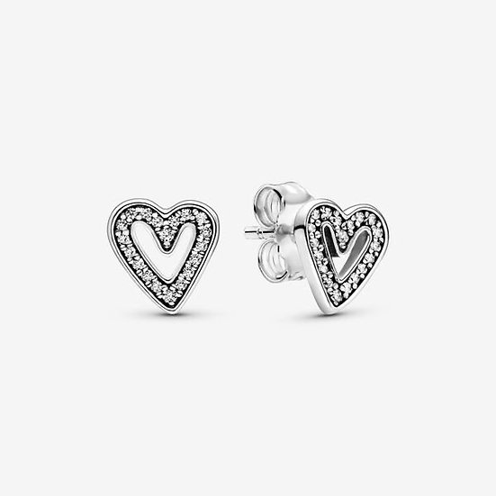 Pandora Acented Heart Earrings