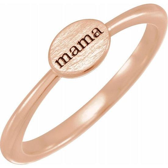 """""""mama"""" Dainty Ring"""