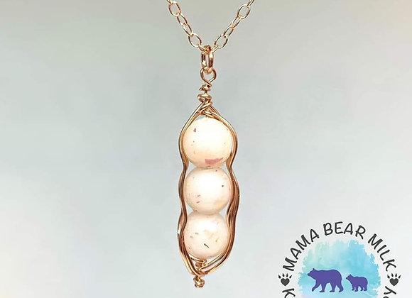 Peas in a pod pendant