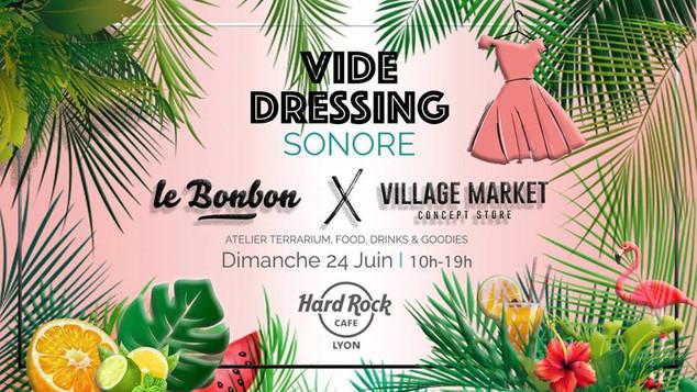 Rejoignez-nous au vide dressing sonore le 24 juin au Hard Rock Café organisé par le Bonbon Lyon &amp