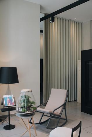 Terrarium d'exception dans le hall d'entrée, réception à Lyon France