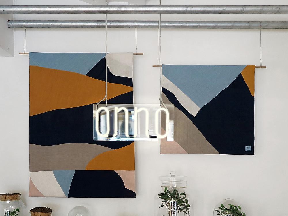 Toile paysage en lin de l'atelier boutique Onno à Lyon France