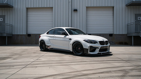 Widebody BMW M2 custom exhaust fabrication