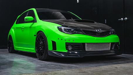 'Satin Neon Green' Subaru WRX STI