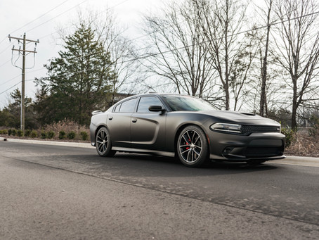 Satin Black lowered Scat Pack Charger