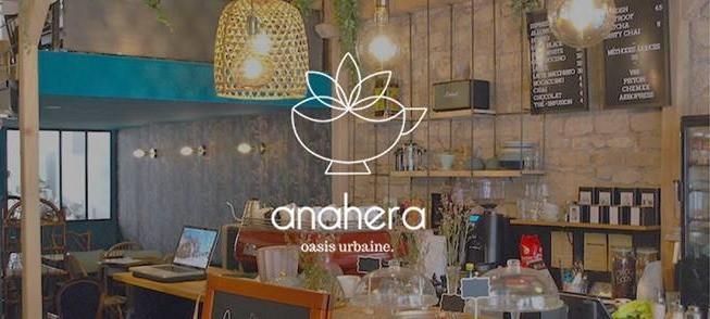 Boutique et logo d'Anahera café, nouveau coffee shop à Lyon 7ème