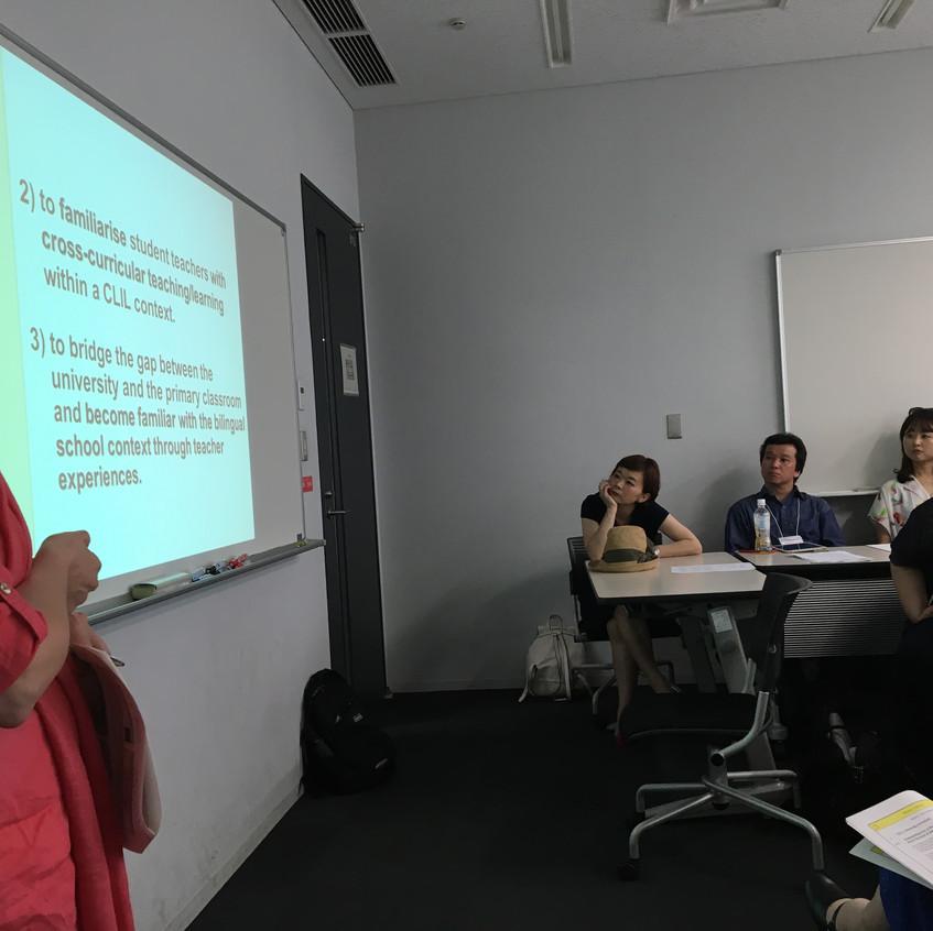 ワークショップCLIL teacher education815号室(2)