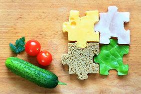 Food puzzle ingredients diet creative ab