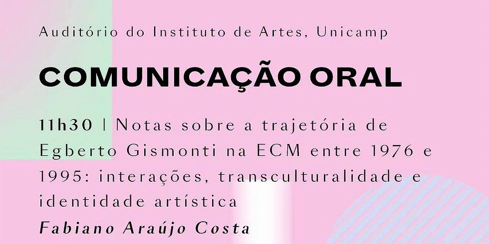 Notas sobre a trajetória de Egberto Gismonti na ECM (1976-1995): Interações, transculturalidade e Identidade Artística