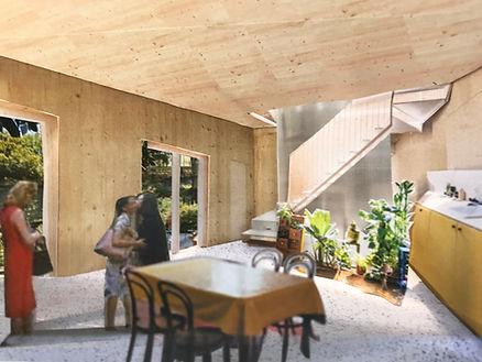 michael chomette architecture interior model paper house