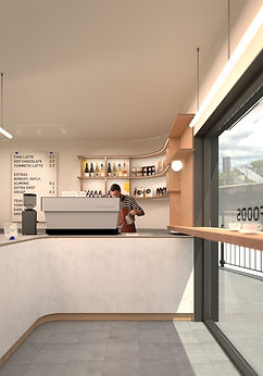 michael chomette architecture interior makecafe coffee specialist surrey quays london