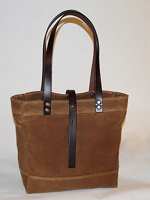 """""""Pack Horse"""" Waxed Canvas Tote"""
