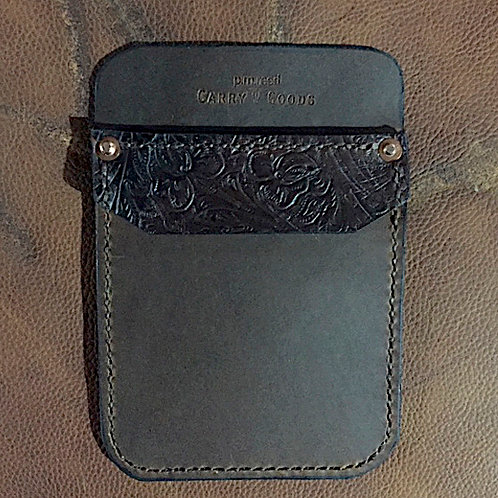 Pocket Pro Horween - Floral Embossed