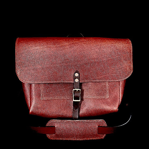 Football Leather Messenger Bag