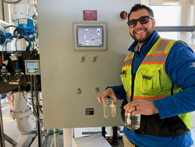 Pacific Blue Engineering designed, assembled, and programmed a control system to filter water for th