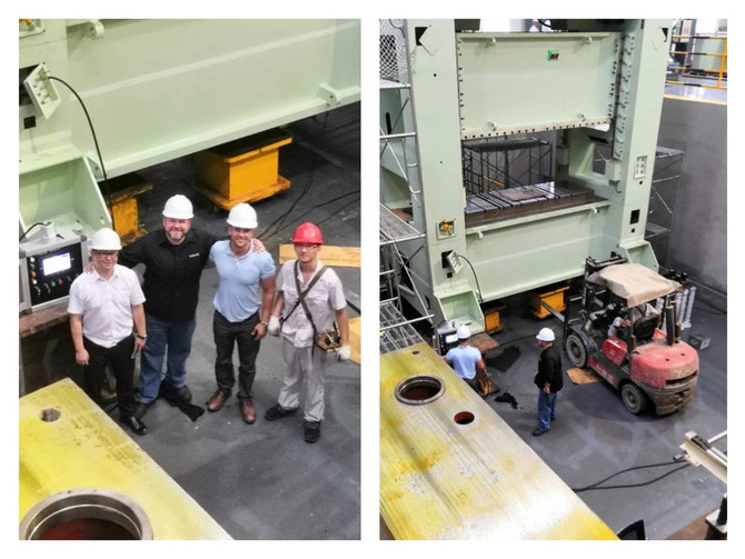 Supporting our customer in Ningbo, China.  Commissioning an 800 ton straight side mechanical stampin