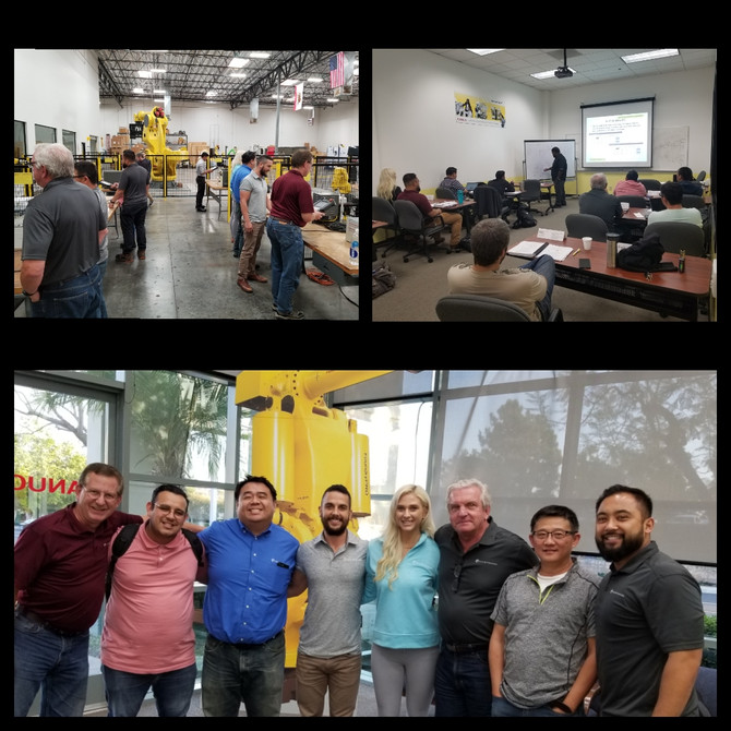 Had a great week of training and team building at Fanuc's Lake Forest shop! We recognize that co