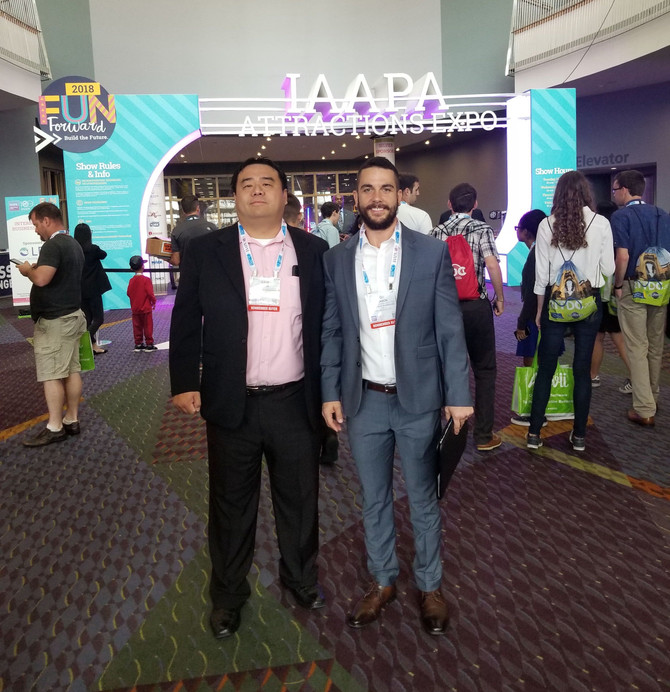 Representing Pacific Blue at IAAPA (International Association of Amusement Parks and Attractions) in