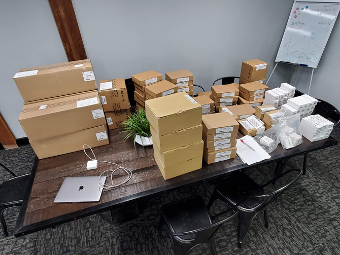Unboxing A LOT of Rockwell Automation hardware.  Getting ready for the installation and commissionin