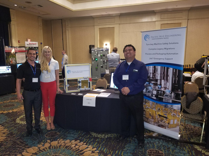 The Pacific Blue team at the Southern California Royal Industrial Solutions Food and Beverage Expo.