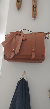 Laptop Case - Brown Leather
