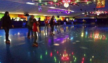 Skaters at a public skate