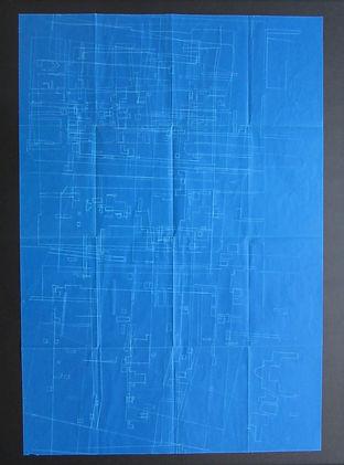 Drieluik De Polder,fragmenten stadsplatt