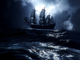 The Story Ship Caught In Storm