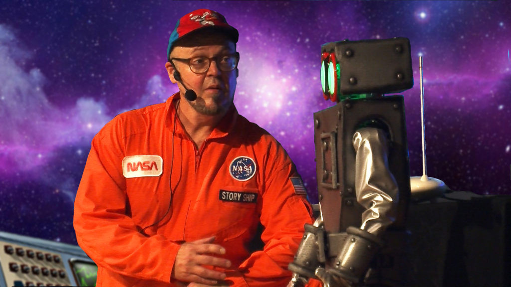 The Story Ship's Virtual STEAM Science Space Show With Live Actor & Robot
