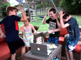 Kids Dancing To Pirate Song With Pirate Goodie