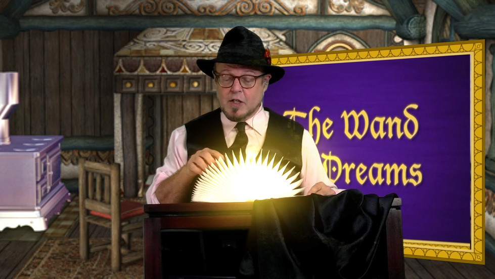 Fairy Godfather Opens The Book Of Magic In A Virtual Fairy Adventure