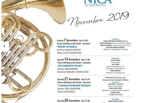 Anita Di Laguna Suite: three performances in Karaganda, Sanremo and Cannes La Croisette