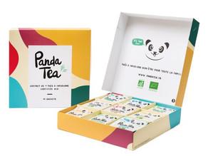 Un coffret de thés bio PANDA TEA