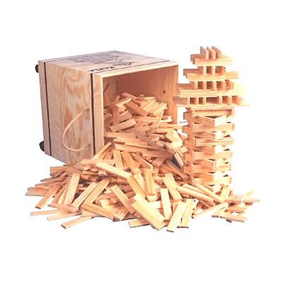Un jeu de construction en bois KAPLA