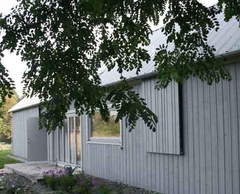 PAUL Hausbau GmbH  Scheunenhaus  Schiebeläden