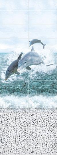 Море панно Дельфины PANDA