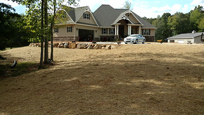 Home in York SC after McCrone Excavating worked on the grading of land, basement and a backfills of the house.