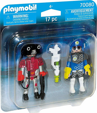 Playmobil® Duo Pack - Space Police Officer and Thief (70080)