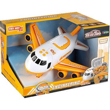 Αεροπλάνο Κίτρινο Friction Luna Toys με Φως και Ήχο. 30x24.5x19.8 εκ.