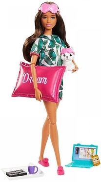 Barbie σκούρο δέρμα με αξεσουάρ και κουτάβι (Mattel)