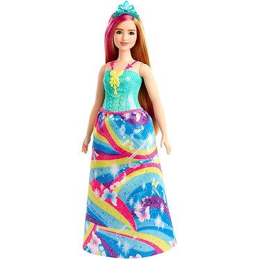 Barbie Curvy Princess Doll Blonde With Pink Hairstreak