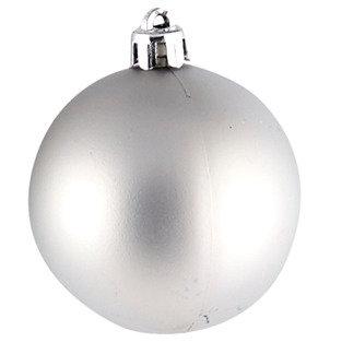 Χριστουγεννιάτικη Γυάλινη Μπάλα Γκρι Ματ 8 εκ